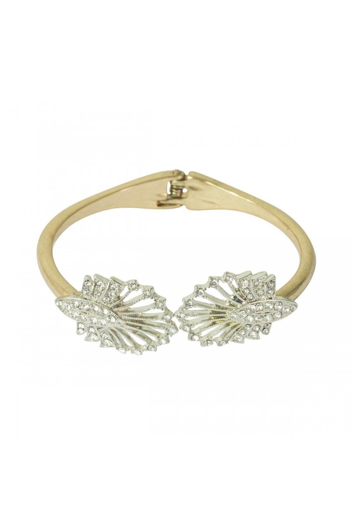 Gold Deco Fan Bracelet