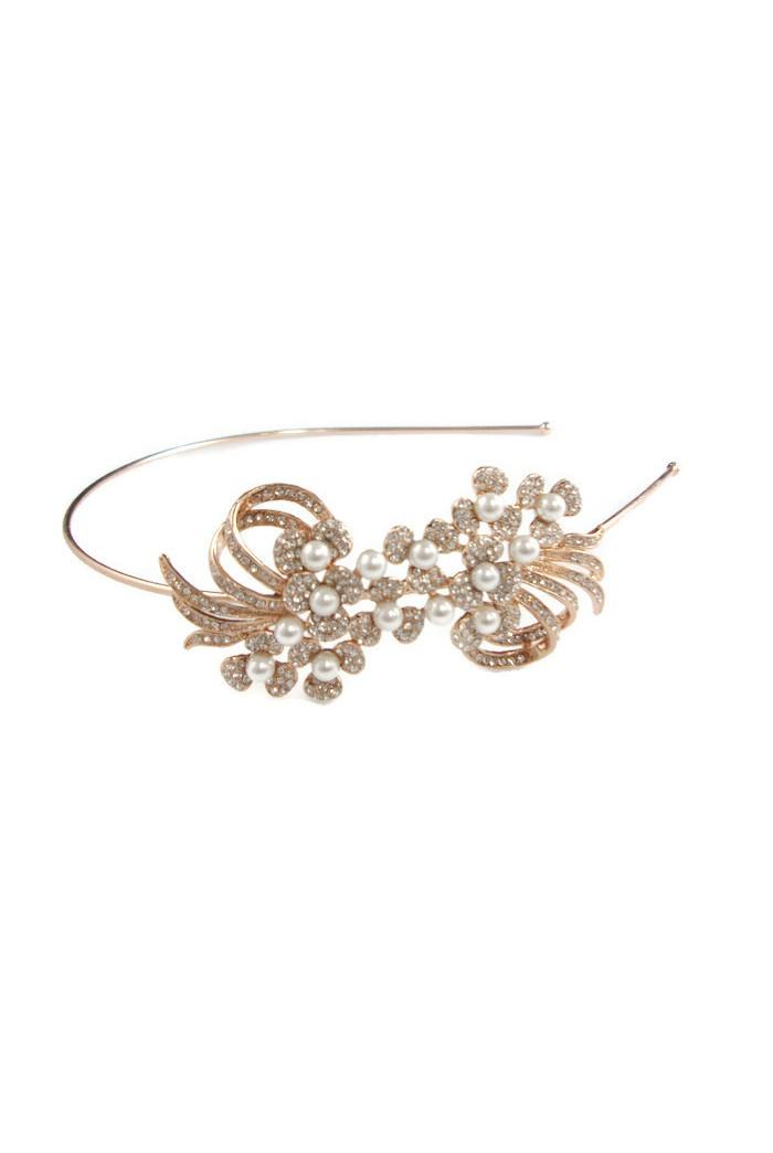 Rose Gold Pearl Headband