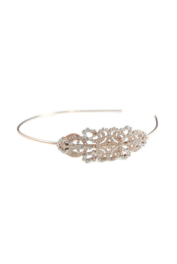 Rose Gold Art Deco Headband