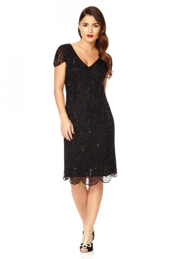 Black Gatsby Flapper Dress