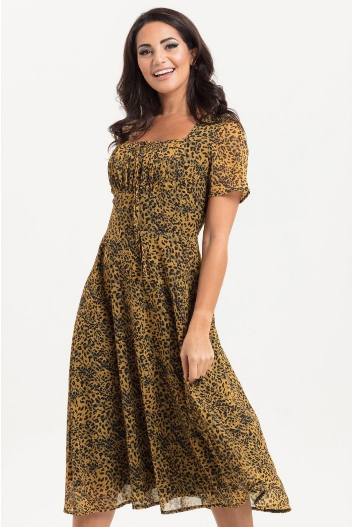 Animal Print Tea Dress