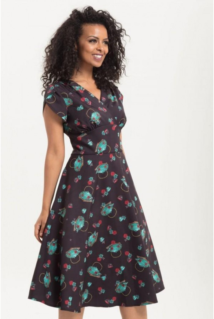 Tea Pot Print Tea Dress