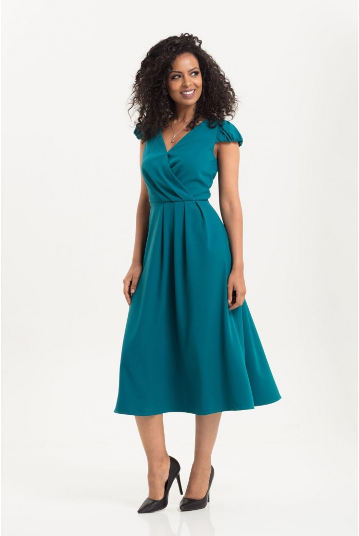 1940s Blue Tea Dress