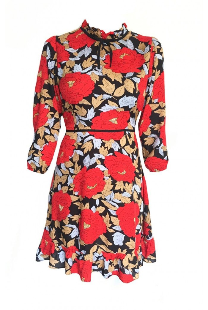 Poppy Print Tea Dress