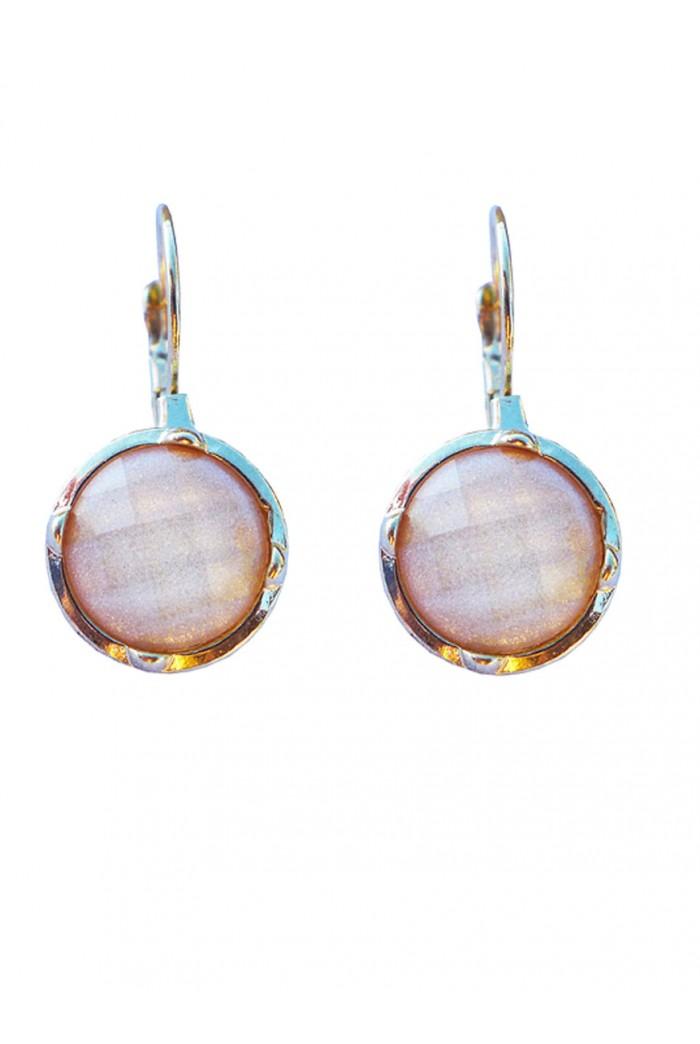 Ivory Crystal Pendant Earrings