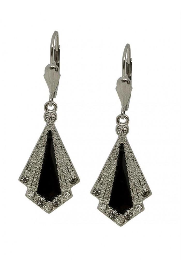 Art Deco Enamel Earrings