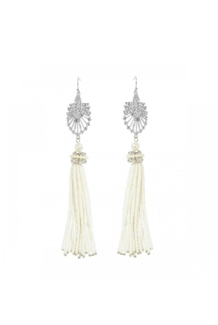 Art Deco Pearl Earrings