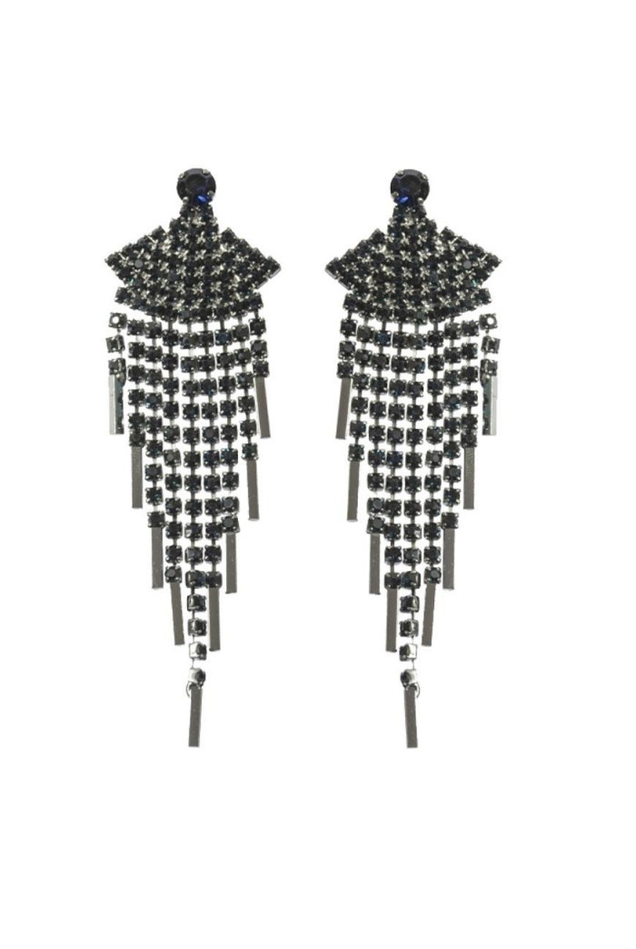Blue Art Deco Earrings