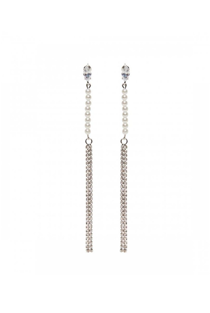 Silver Gatsby Drop Earrings