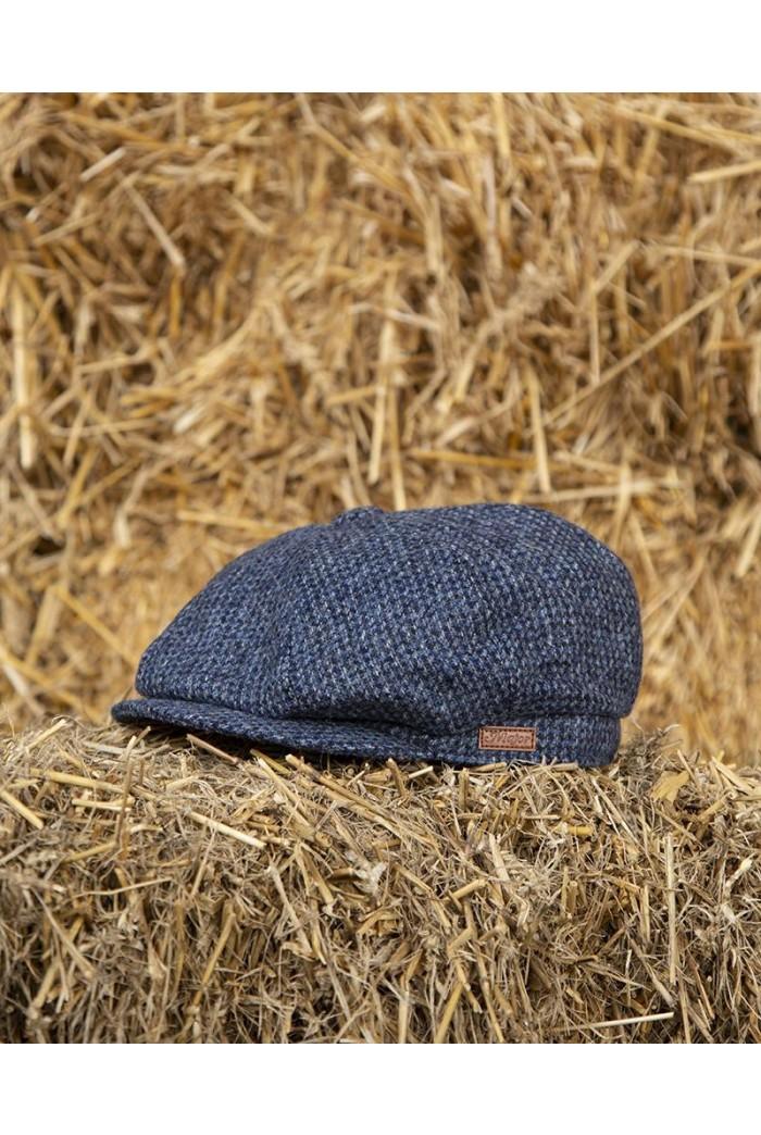 Blue Tweed Baker Boy Cap