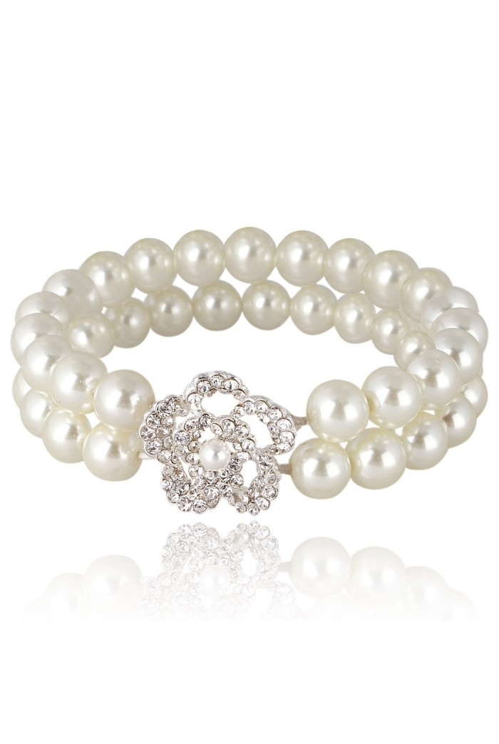 Double Row Pearl Bracelet