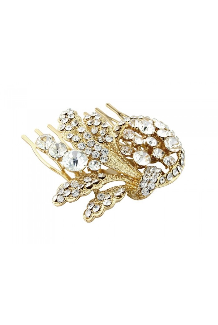 Gold Vintage Style Hair Comb