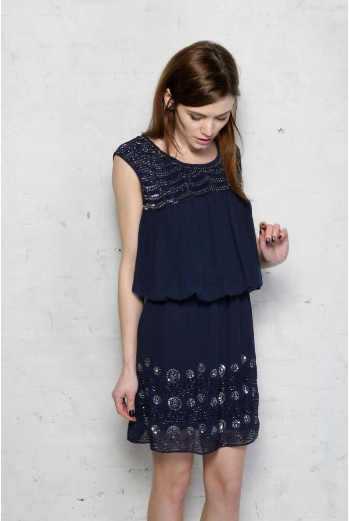 Blue Flapper Dress