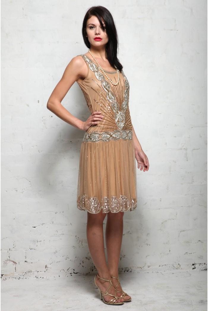 Frock And Frill Zelda Flapper Dress Sequined 1920s Dress