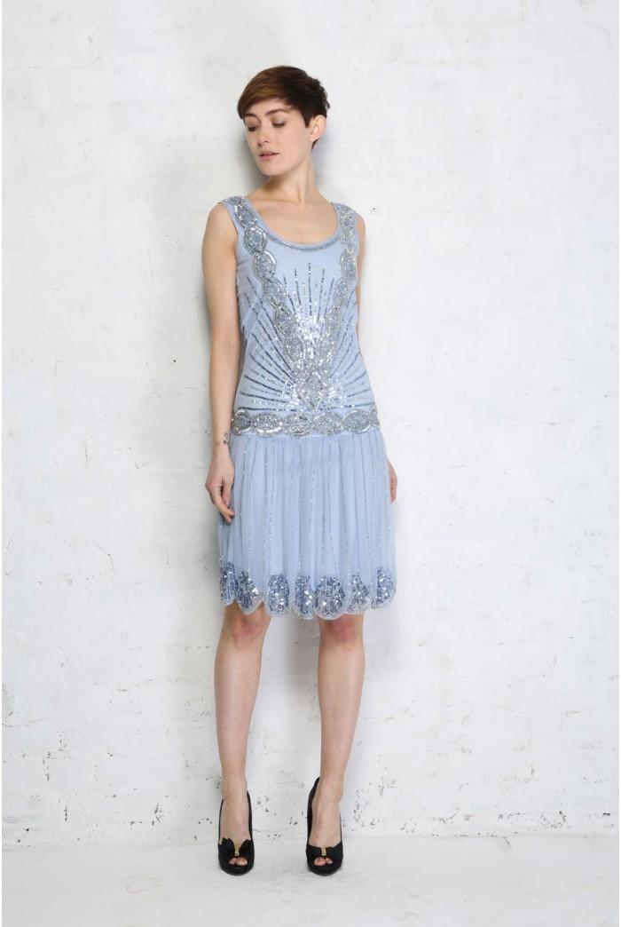 Light Blue Zelda Flapper Dress