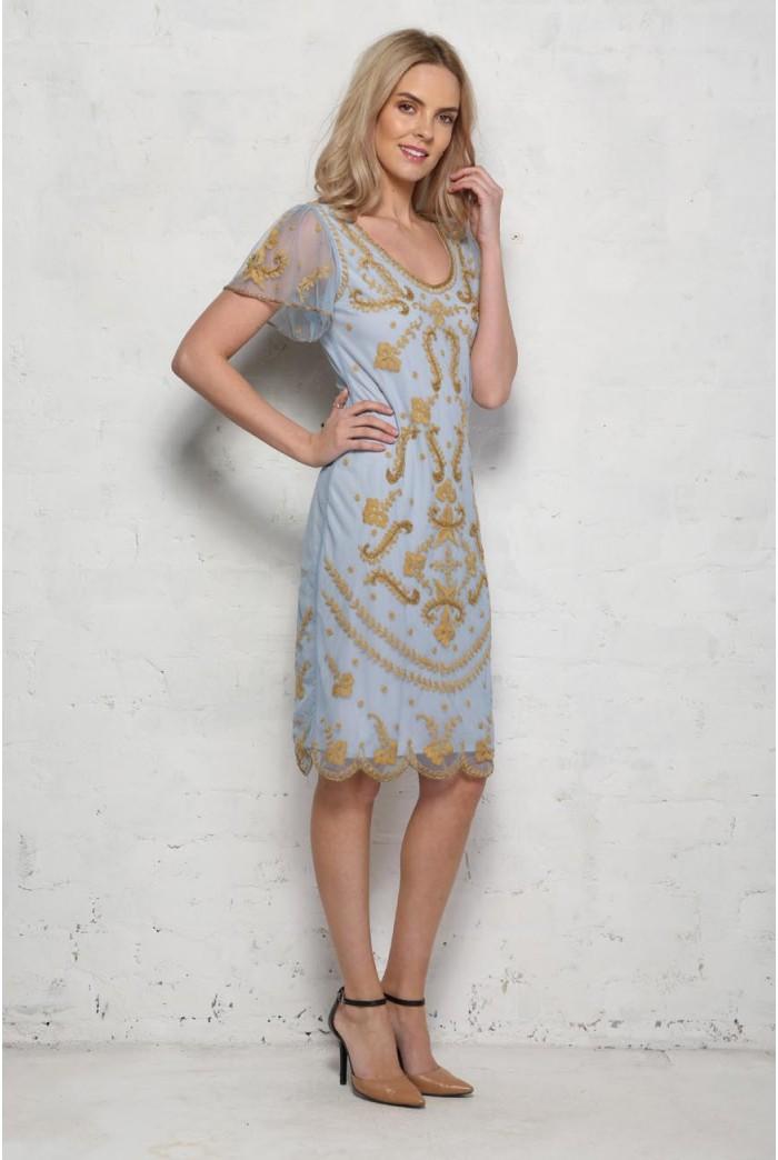 Pastel Blue Flapper Dress