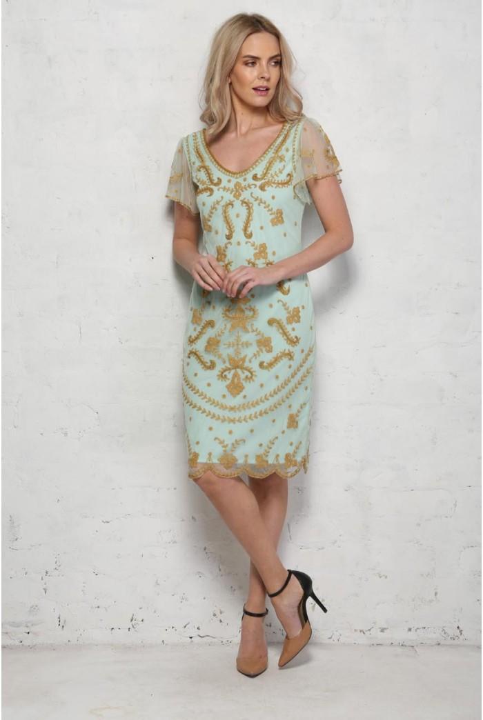 Mint Green Flapper Dress