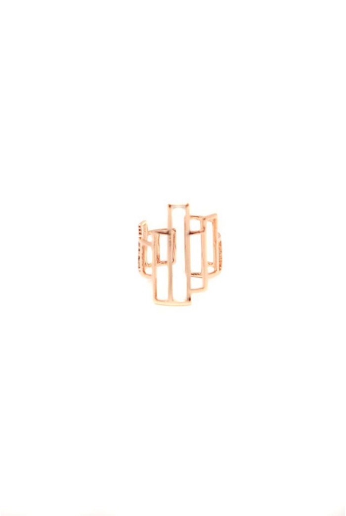 Rose Gold Geometric Ring