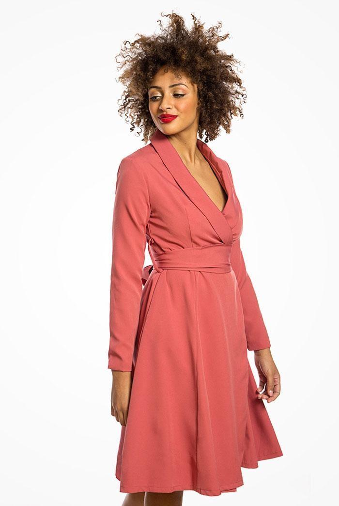 Rose Pink Wrap Dress