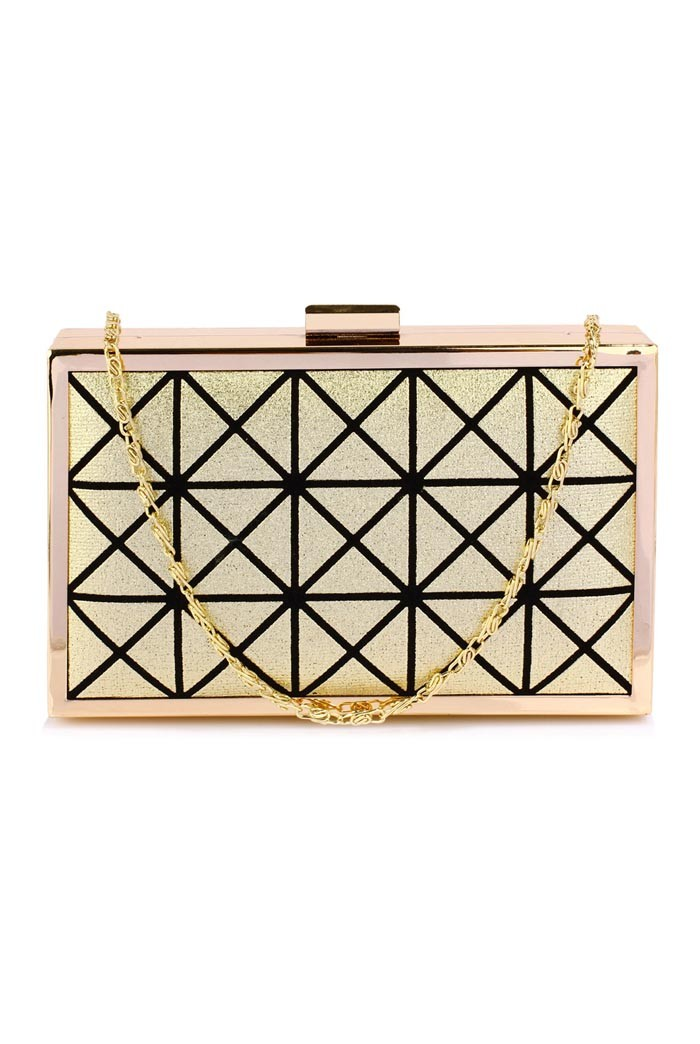Gold Deco Clutch