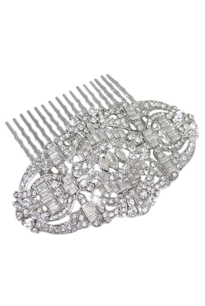 Silver Gatsby Hair Comb