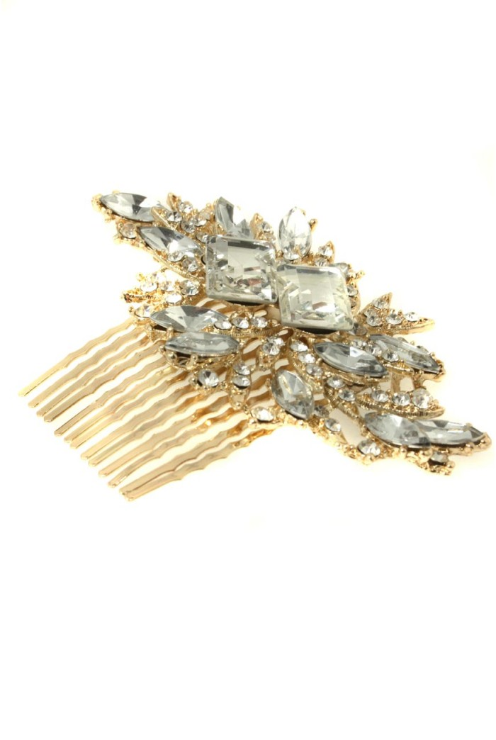 Vintage Gold Hair Comb 1920s Style Hair Accessory