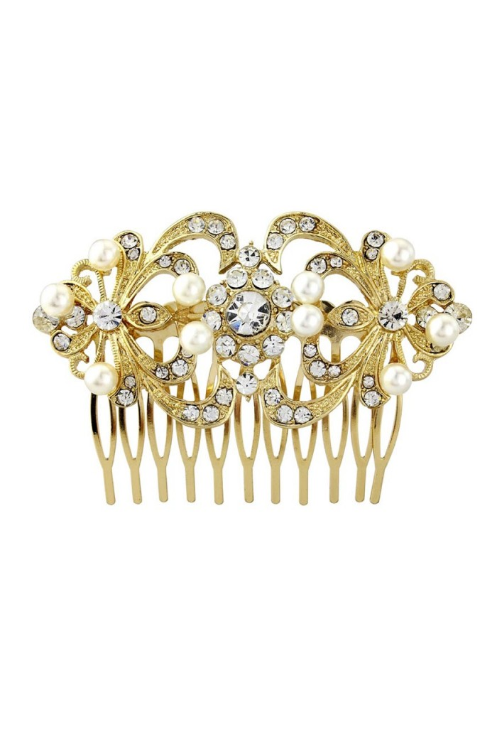 Gold Deco Hair Comb