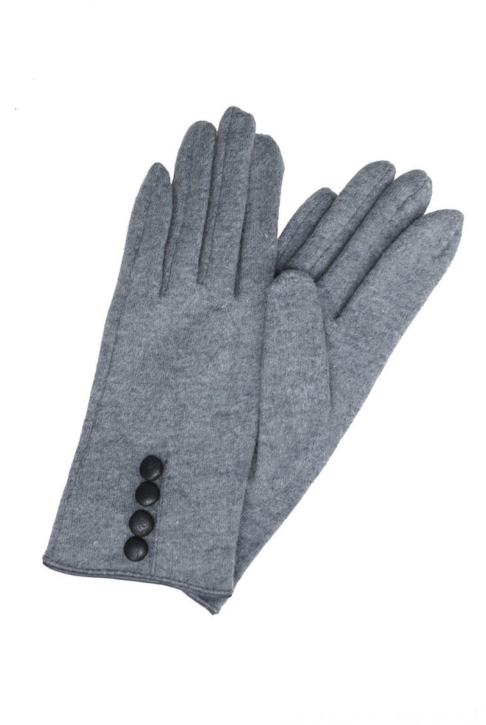 Numph Gloria Glove - High Rise Grey