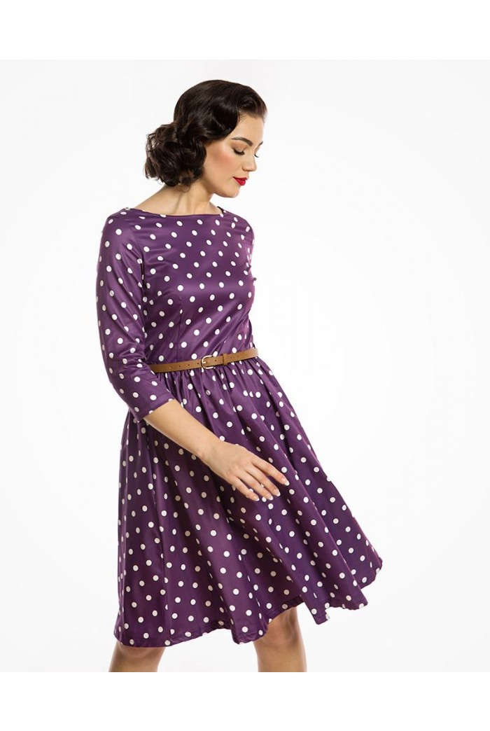 Purple Polka Dot Prom Dress