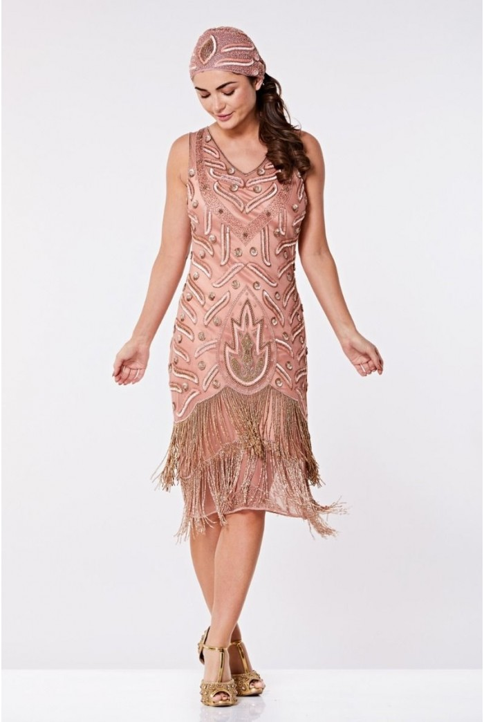 Rose Flapper Dress
