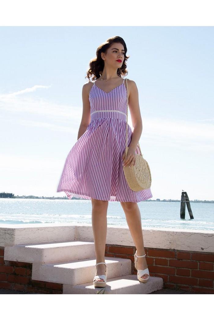 Candy Stripe Summer Dress