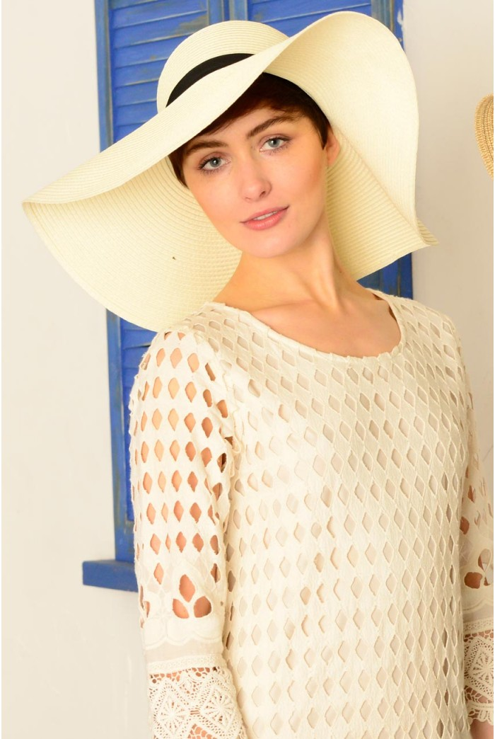 1970s Style Straw Hat