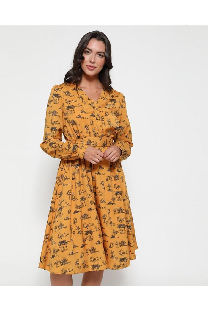 Skeleton Print Dress
