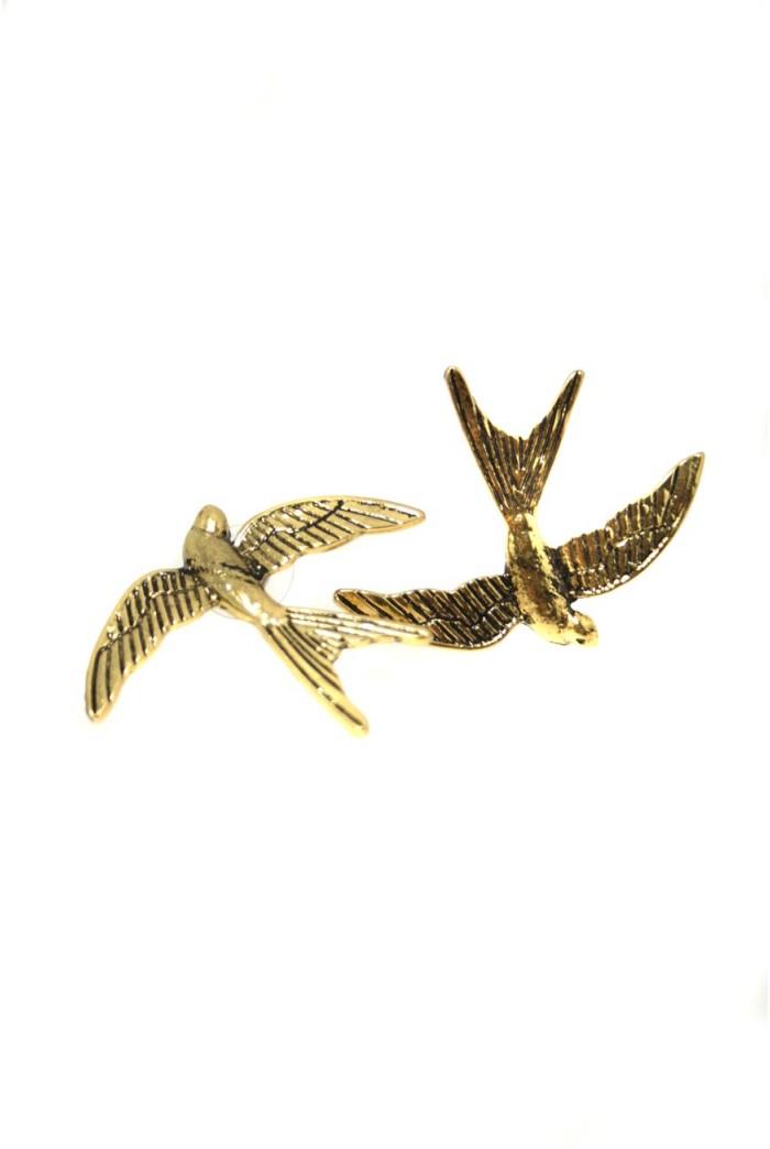 Gold Swallow Earrings