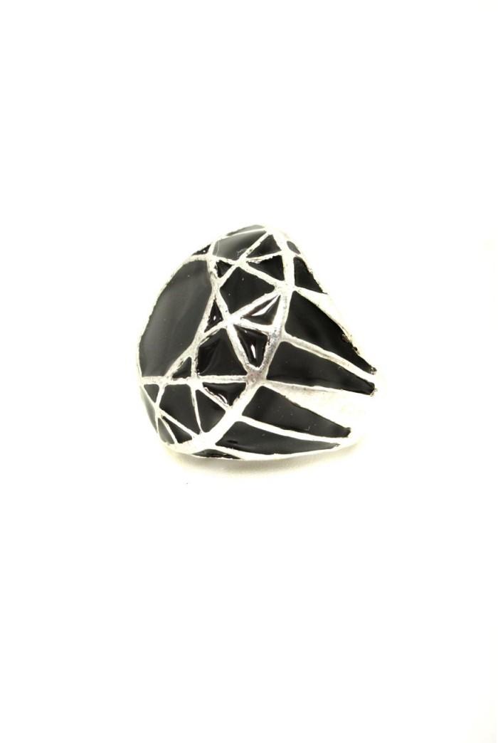 Silver Art Deco Ring