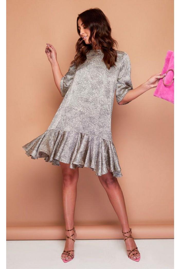 Leopard Print 1920s Dress