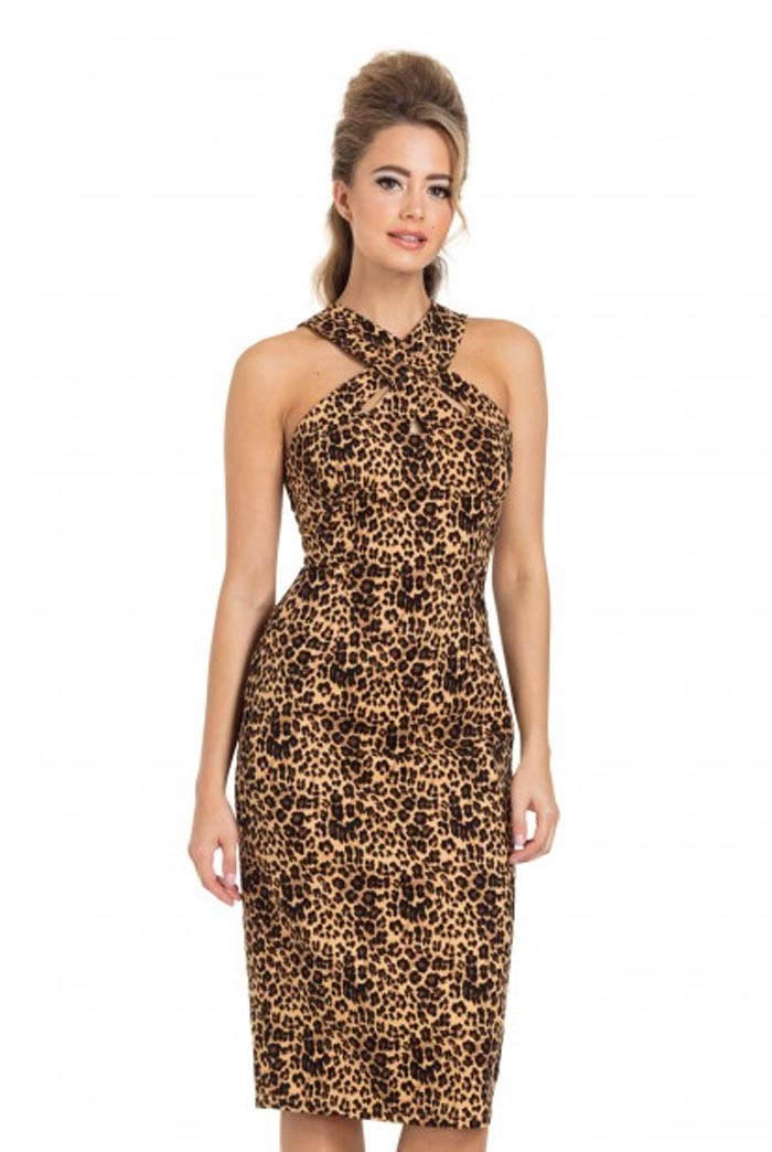 Leopard Wiggle Dress