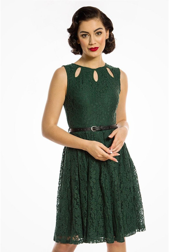 Green Lace Prom Dress