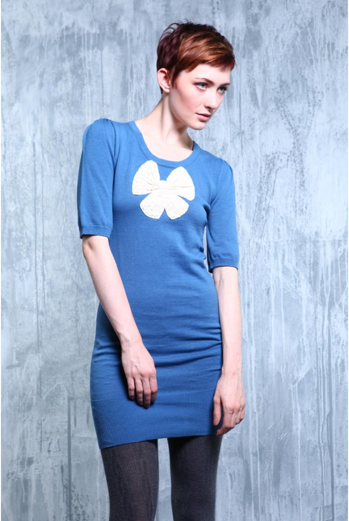 Lowie Blue Bow Dress