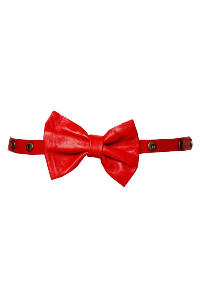 Lowie Red Bow Stud Belt