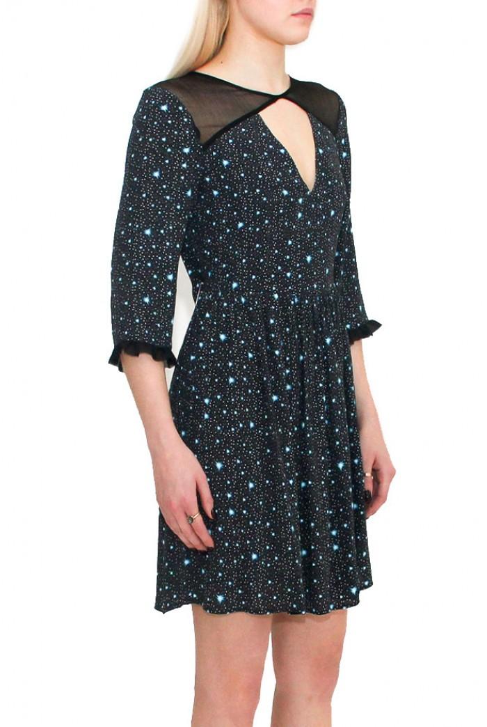 Star Print Prom Dress