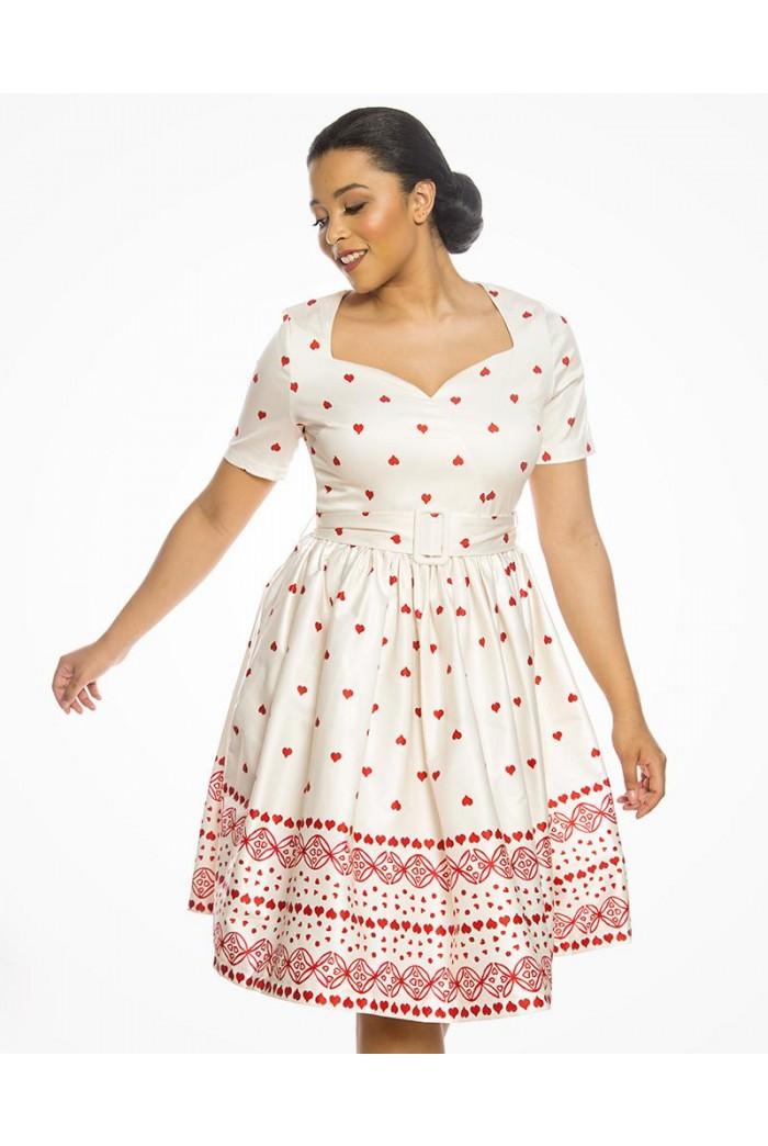Heart Print Prom Dress