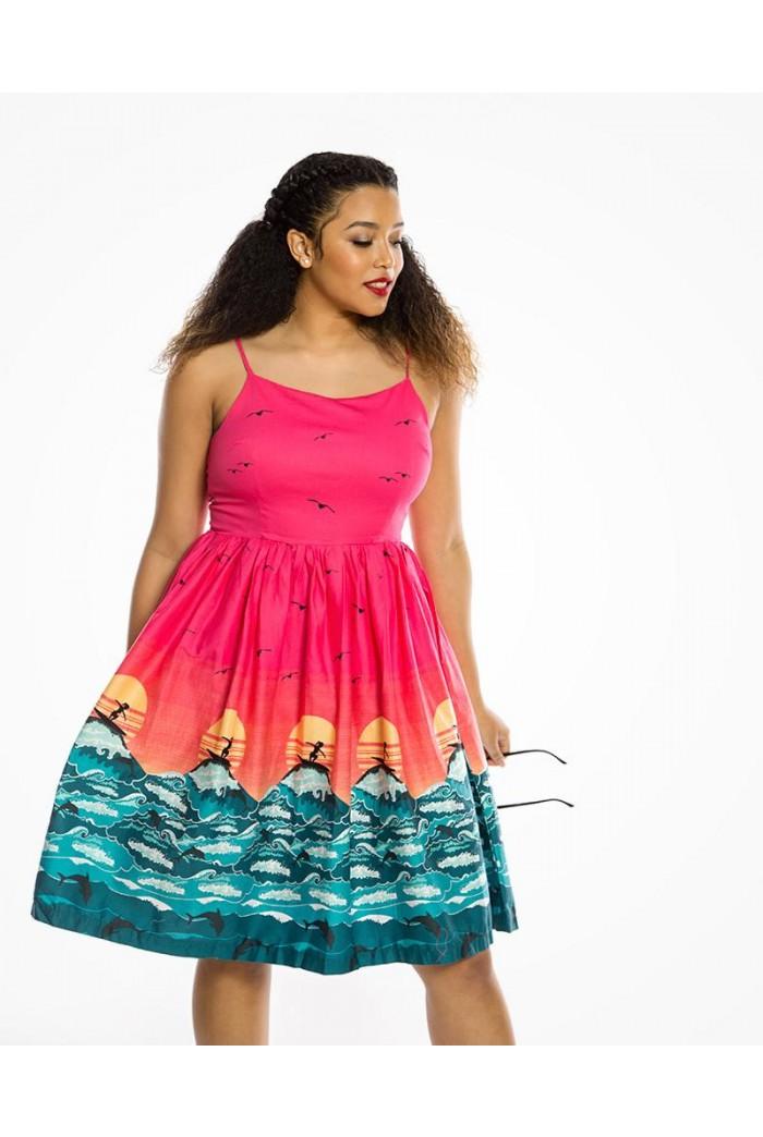 Surfer Print Prom Dress