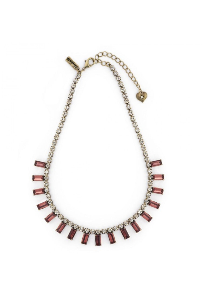 Red Art Deco Necklace