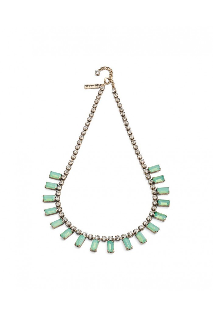 Green Art Deco Necklace