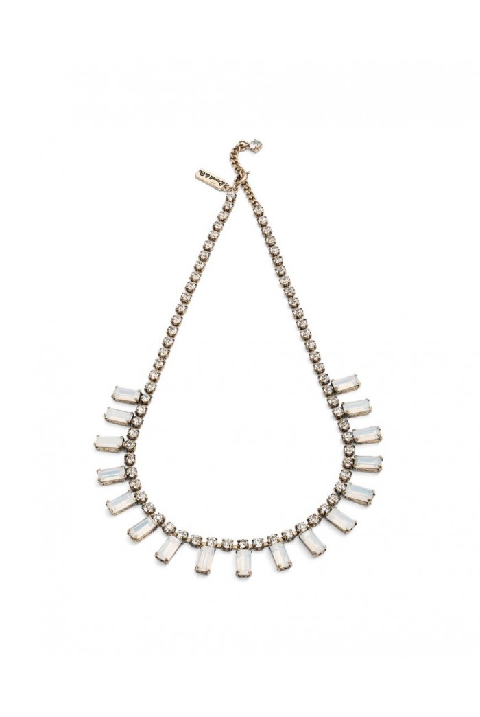 White Art Deco Necklace
