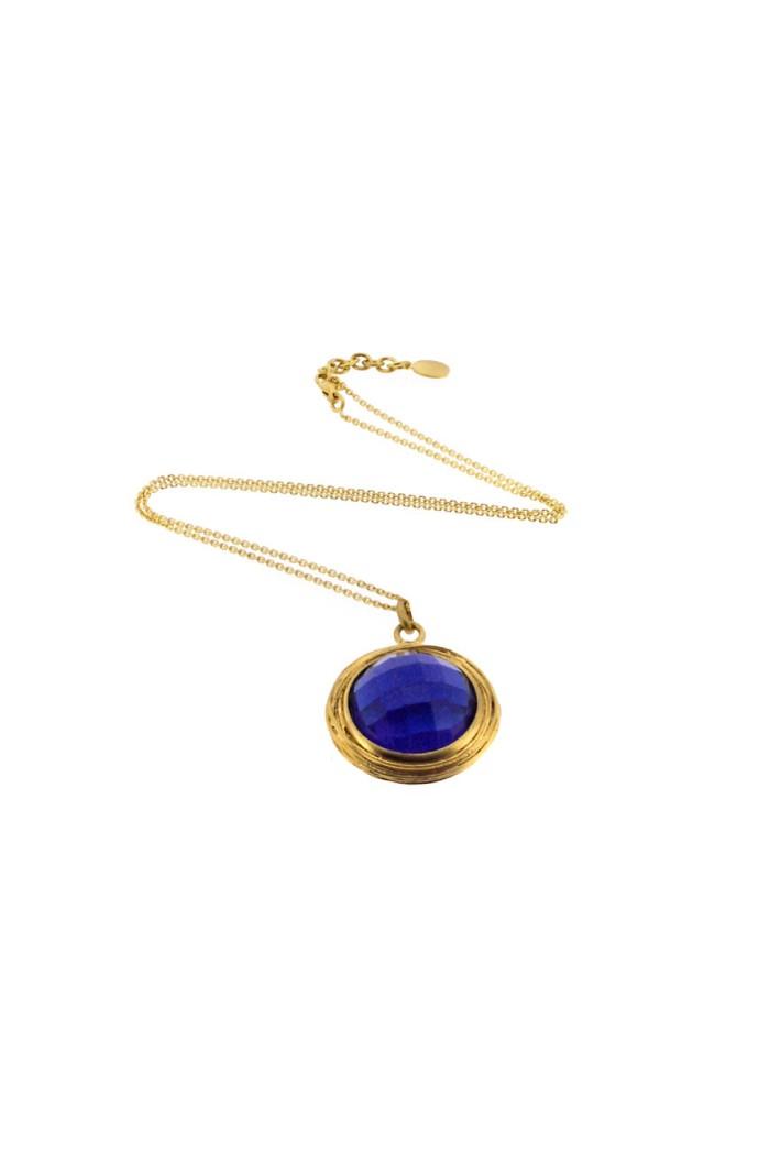 Lucas Jack Blue Nest Necklace