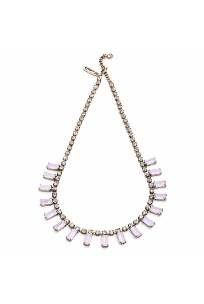 Pink Art Deco Necklace