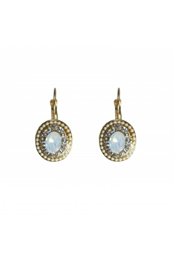 Oval Art Deco Earrings
