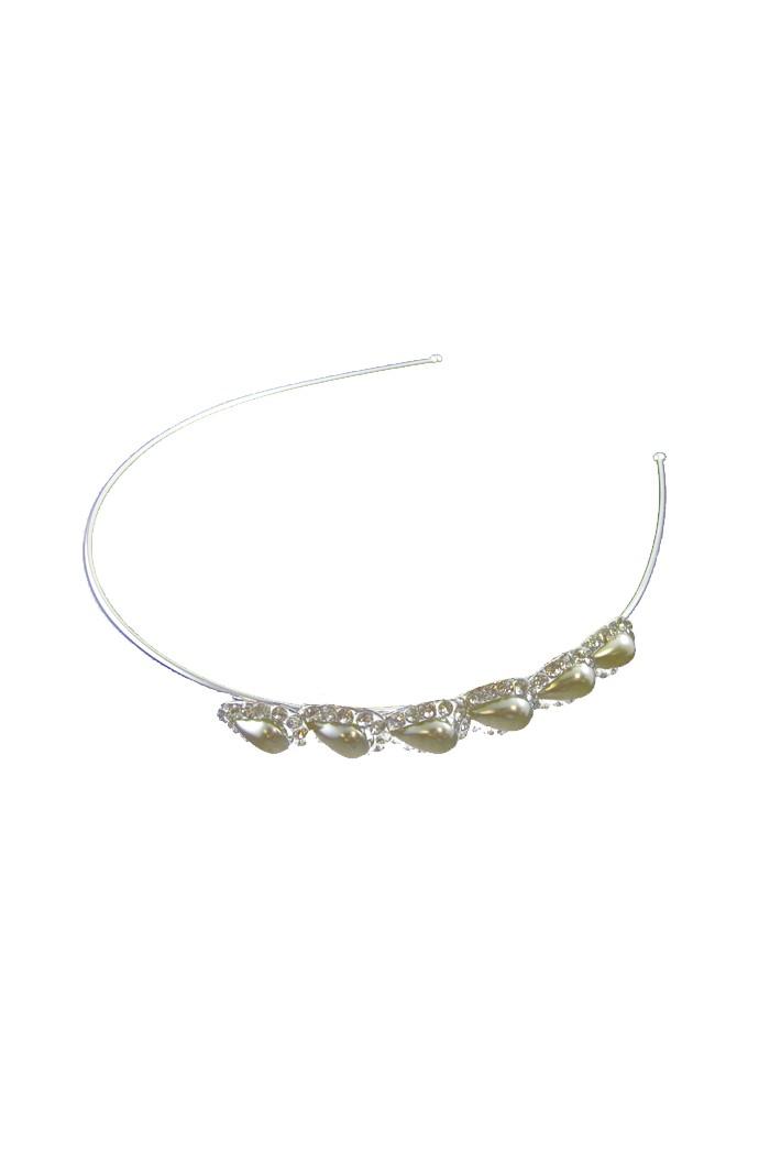 Silver Pearl Art Deco Headband